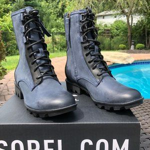 Sorel Phoenix Waterproof Lace-Up Boot In Navy